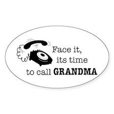 Call Grandma Oval Decal