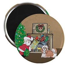 "Santa's Gift To A Shih Tzu Christmas 2.25"" Magnet"