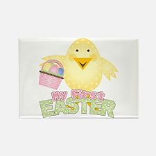 1st Easter Chick Girl Rectangle Magnet