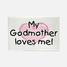 My Godmother loves me (pk) Rectangle Magnet