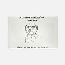 mozart dedication Rectangle Magnet