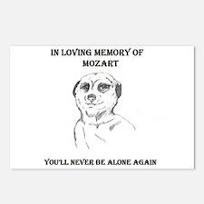 mozart dedication Postcards (Package of 8)