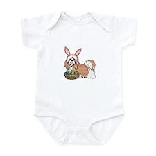 Easter Bunny Shih Tzu Infant Bodysuit