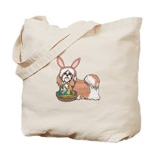 Easter Bunny Shih Tzu Tote Bag