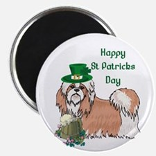 Happy St Patrick's Day Shih Tzu Magnet