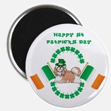 Happy St Patricks Day Shih Tzu Magnet