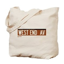 West End Avenue in NY Tote Bag