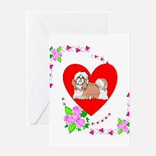 Shih Tzu Love Greeting Card