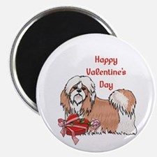 Happy Valentine's Day Shih Tzu Magnet