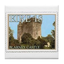 Faux Vintage Irish Postage Stamp Tile Coaster