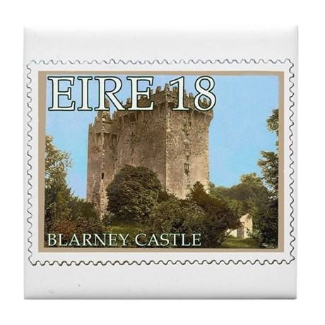Faux Vintage Irish Postage Stamp Tile Coaster