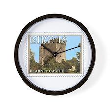 Faux Vintage Irish Postage Stamp Wall Clock