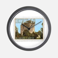 Faux Vintage Irish Postage Stamp Wall Clock