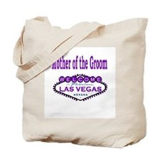 Purple LV Mother of the Groom Tote Bag