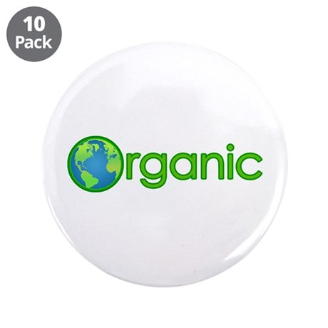 "Organic Earth 3.5"" Button (10 pack)"