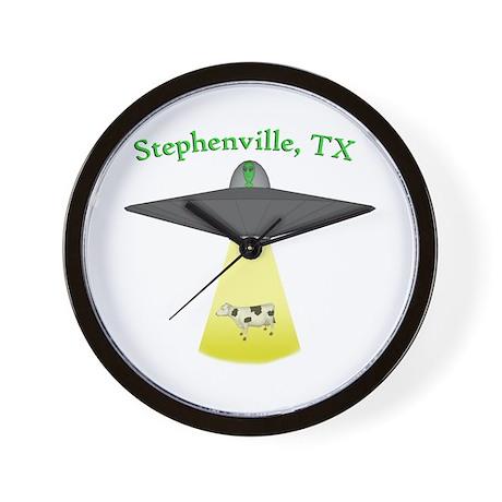 Stephenville UFO Wall Clock