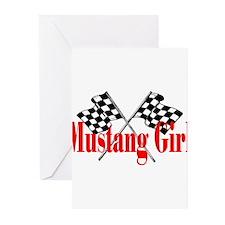 Mustang Girl Greeting Cards (Pk of 10)