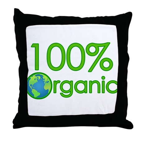 100% Organic Throw Pillow