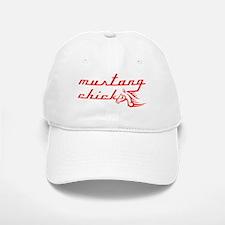 Mustang Chick Baseball Baseball Cap