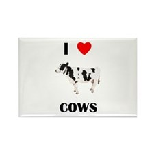 I love cows Rectangle Magnet (10 pack)