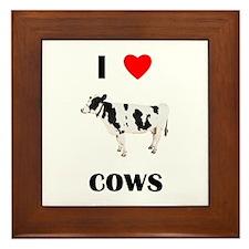 I love cows Framed Tile