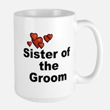 Hearts Sister of the Groom Mug
