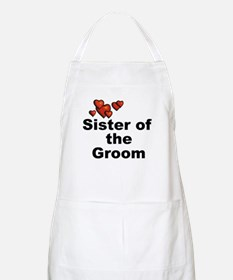 Hearts Sister of the Groom BBQ Apron