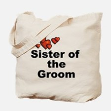 Hearts Sister of the Groom Tote Bag