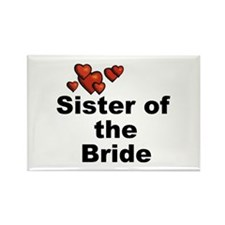 Hearts Sister of the Bride Rectangle Magnet