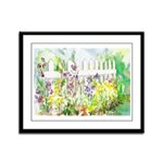 Garden Gate Framed Panel Print