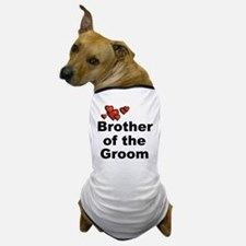 Hearts Brother of the Groom Dog T-Shirt