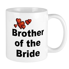 Hearts Brother of the Bride Mug