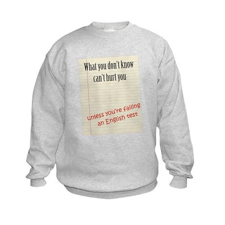 English Test Kids Sweatshirt