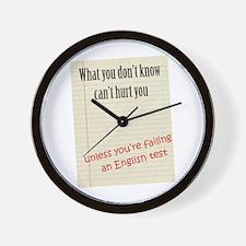 English Test Wall Clock