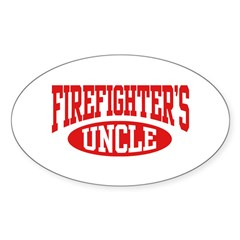 Firefighter's Uncle Oval Decal