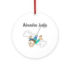 Adrenaline Junkie Ornament (Round)