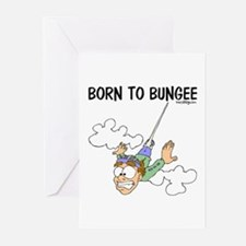 Born To Bungee Greeting Cards (Pk of 10)