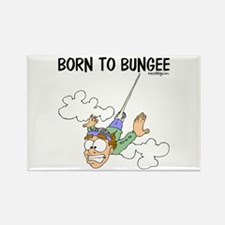Born To Bungee Rectangle Magnet