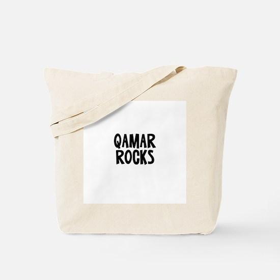 Qamar  Rocks Tote Bag