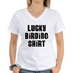 Lucky Birding Women's V-Neck T-Shirt