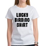 Lucky Birding Shirt (Black Text) Women's T-Shirt