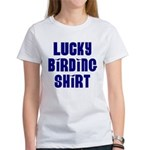 Lucky Birding Shirt (Royal Text) Women's T-Shirt