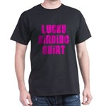Lucky Birding Shirt (Fuchsia Text) Dark T-Shirt