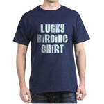 Lucky Birding Shirt (Sky Text) Dark T-Shirt