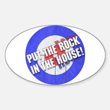 Rock In The House! Curling Oval Decal