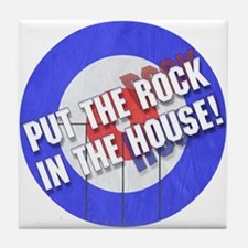 Rock In The House! Curling Tile Coaster