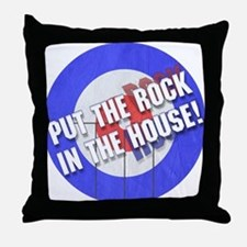 Rock In The House! Curling Throw Pillow