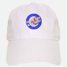 Rock In The House! Curling Baseball Baseball Cap