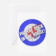 Rock In The House! Curling Greeting Card