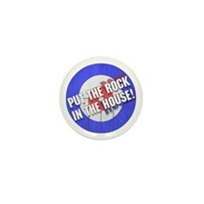Rock In The House! Curling Mini Button